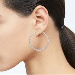 Basic Silver Hoops from Banana Republic